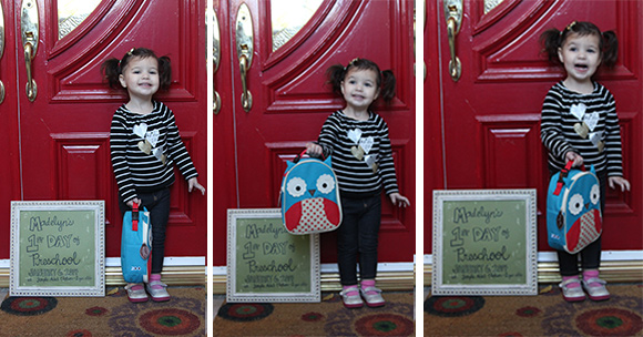Madelyn's First Day of Preschool