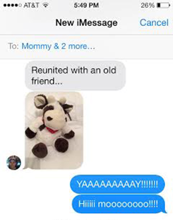 There was much rejoicing via text with Bryan and the grandmas