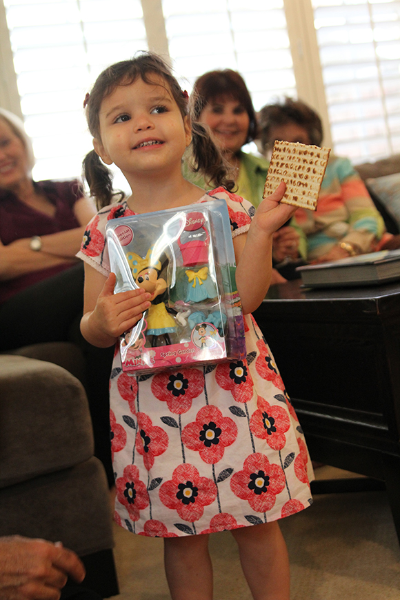One proud matzah finder.