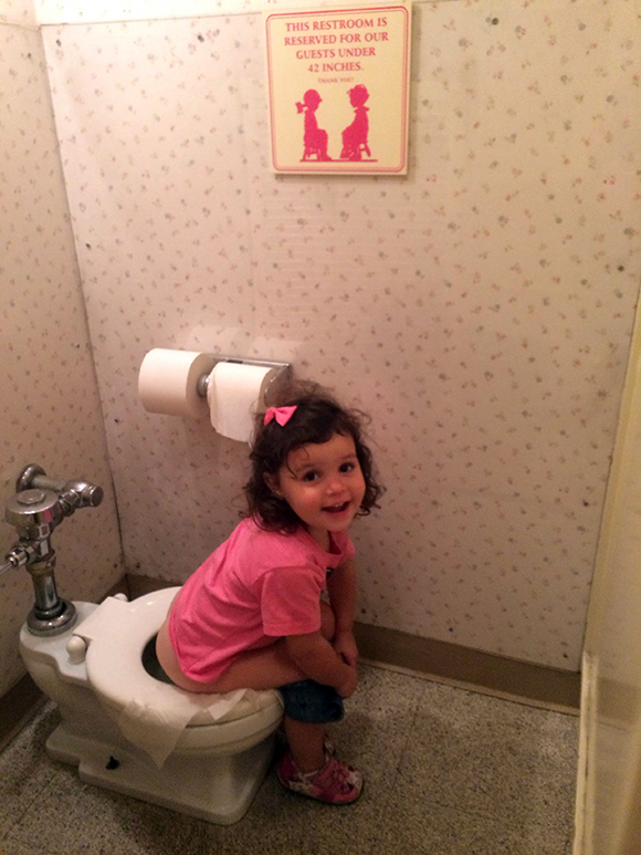 The most magical pee of her life.