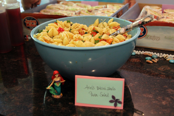 Ariel's Bikini Shells Pasta Salad -- Size C, for Carbs.