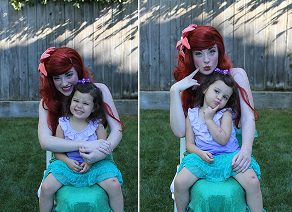 Midway through the photos sesh, Madelyn got sassy and Ariel followed suit.
