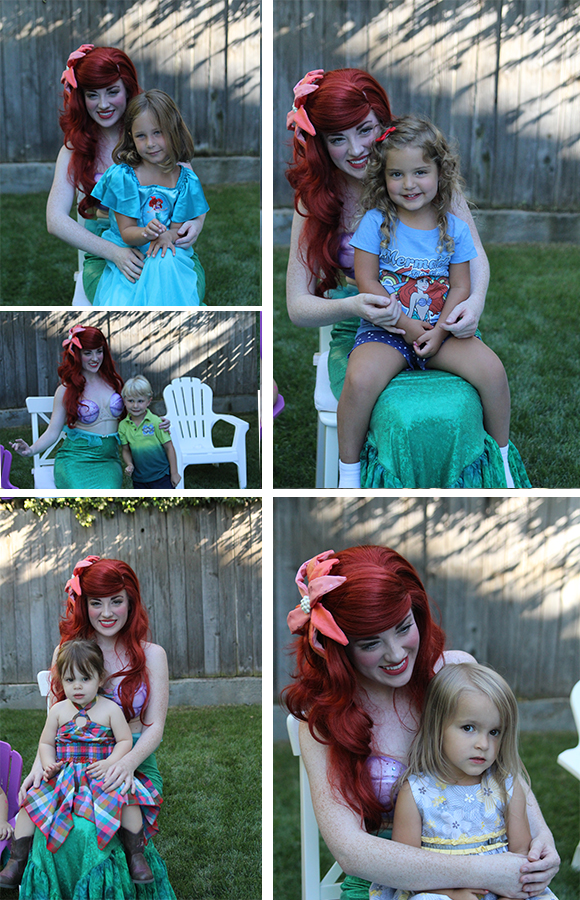 And then all the kids got a turn to pose with the mermaid!