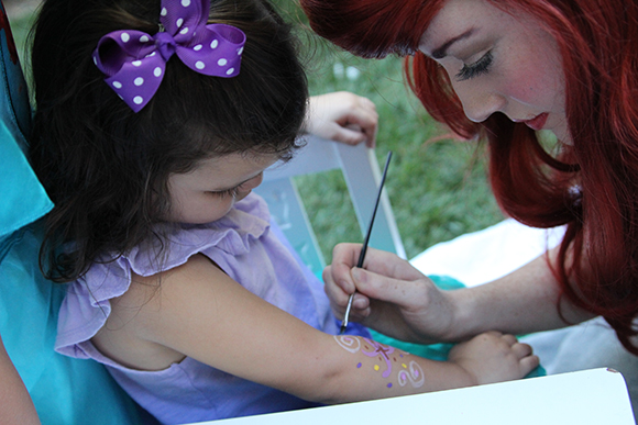 Ariel is so hard core, she tatted up all the kids. Nose rings for Madelyn's 4th birthday party.