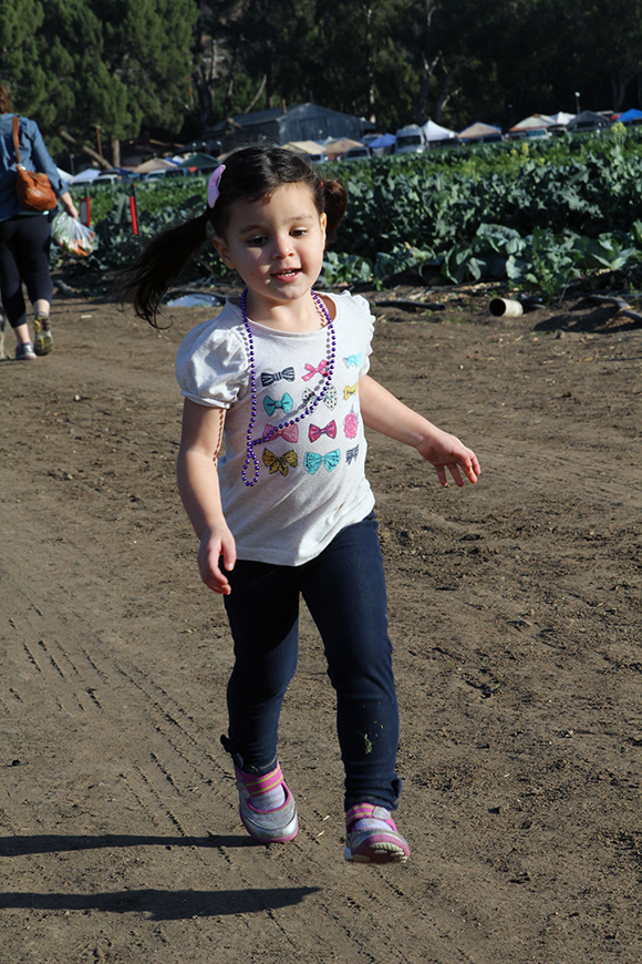 So thankful that my child runs happily toward vegetables.