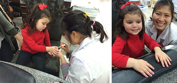 "These are the silliest milestones, yet those are the ones that are most memorable: ""Baby's First Mani"""
