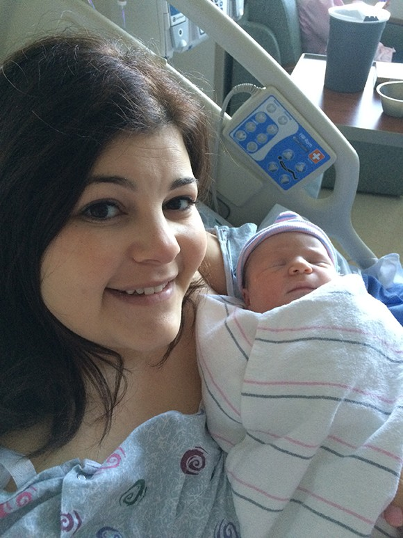 After months of not knowing how I'd welcome a new little love in my life, it felt really good to have her in my arms.