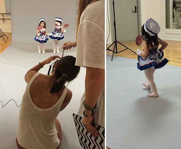 Madelyn loved practicing steps for the camera.