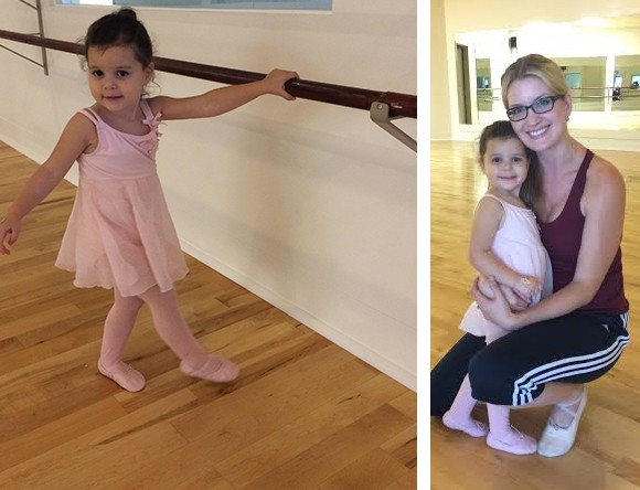 Back in September, Madelyn began ballet with Miss Kelly, the studio owner. They have a sweet and special bond.
