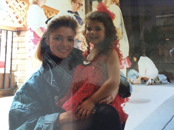 """With my teacher, Traci. I remember copying her and playing """"dance teacher"""" with my dolls in my room. #onlychildproblems"""