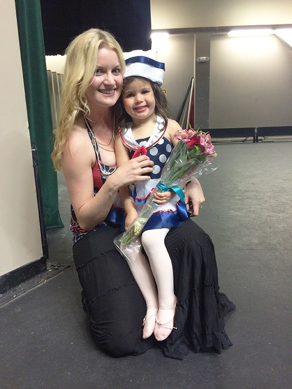 Madeyln adores Kelly and we love dancing with her at her school!
