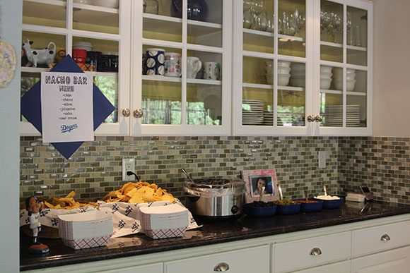 A Nacho Bar was a grand slam with our guests. Go Doyers!
