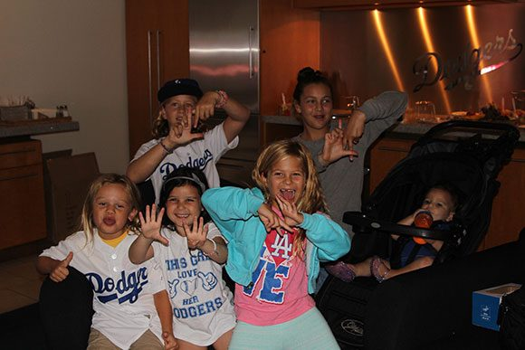 The big kids tried to teach the little ones how to do the LA sign. SOCLOSE.
