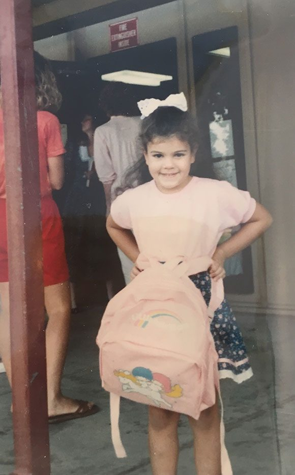 LITTLE TWIN STARS BACKPACK! Madelyn and her Pottery Barn Kids backpack are SO jealous of my 1988 accessories.