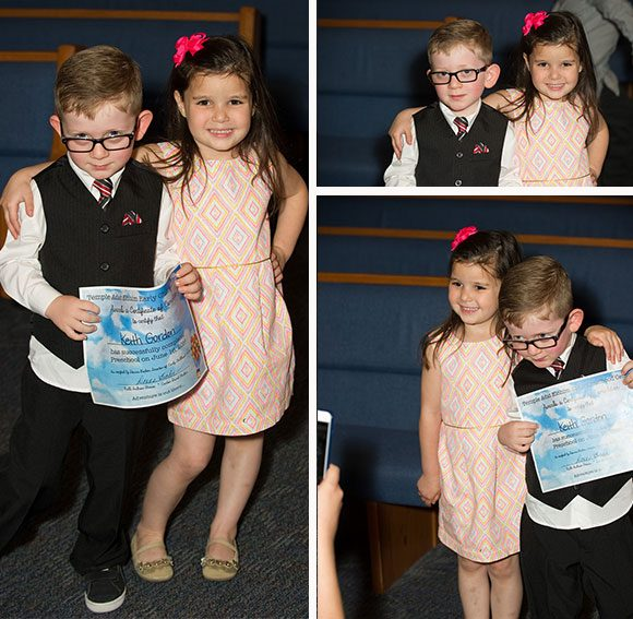 Madelyn and her bestie, Keith. If there had been a Preschool Prom, they would've totally gone together.