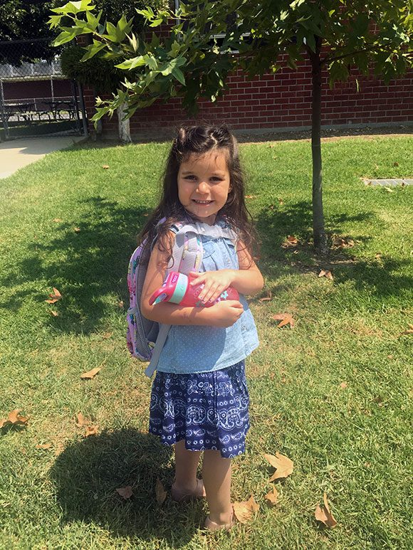 2nd day of kindergarten and it was just as strong as the first!